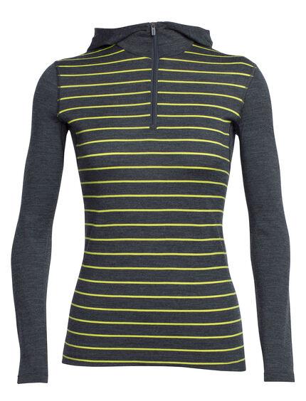 Oasis Long Sleeve Half Zip Hood Stripe