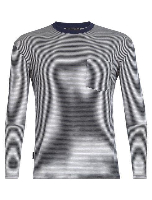 Luxe Lite Long Sleeve Pocket Crewe Stripe