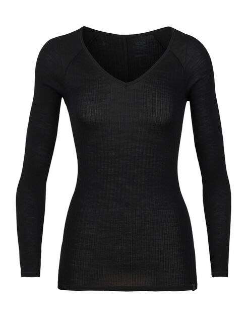 Luxe Rib Long Sleeve V