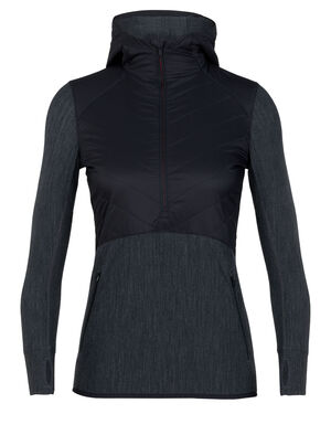 MerinoLOFT™ Descender Hybrid Long Sleeve Half Zip Hood