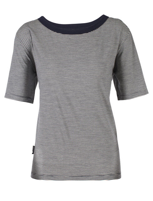 旅 TABI Luxe Lite Short Sleeve Pocket Crewe Stripe