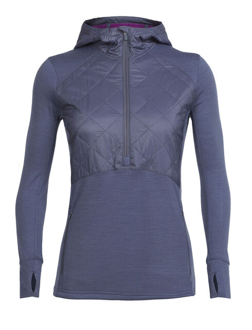 MerinoLOFT™ Ellipse Long Sleeve Half Zip Hood